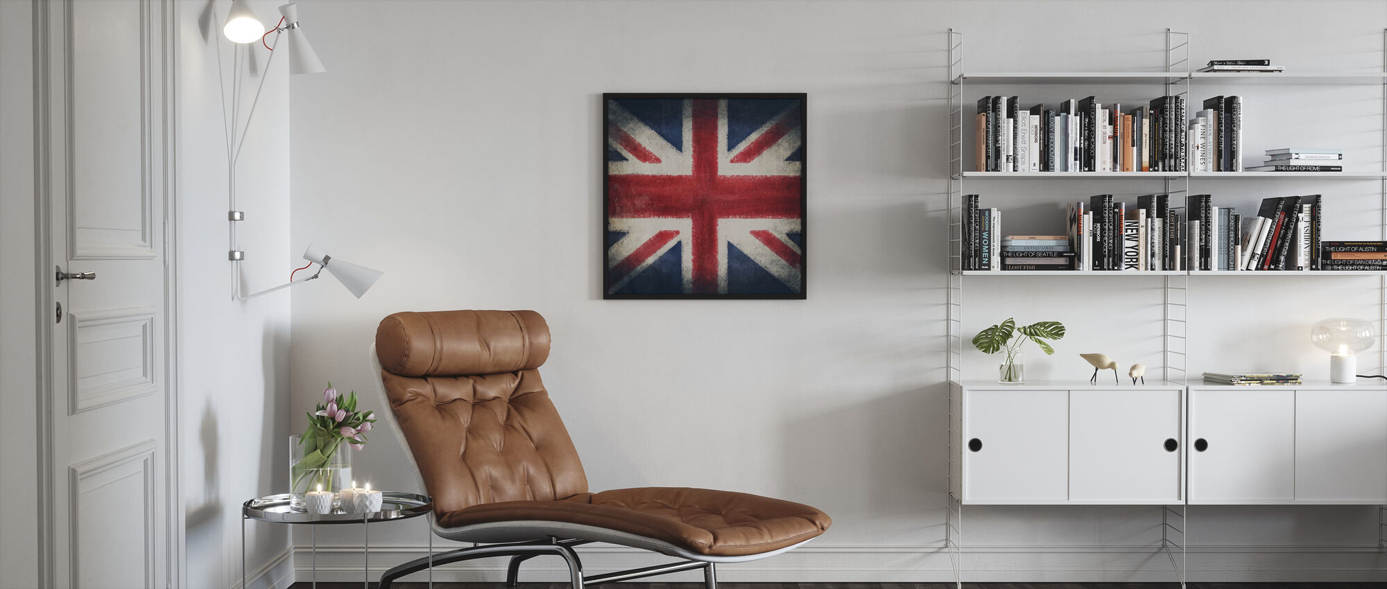 Retro Flag - Framed print - Living Room