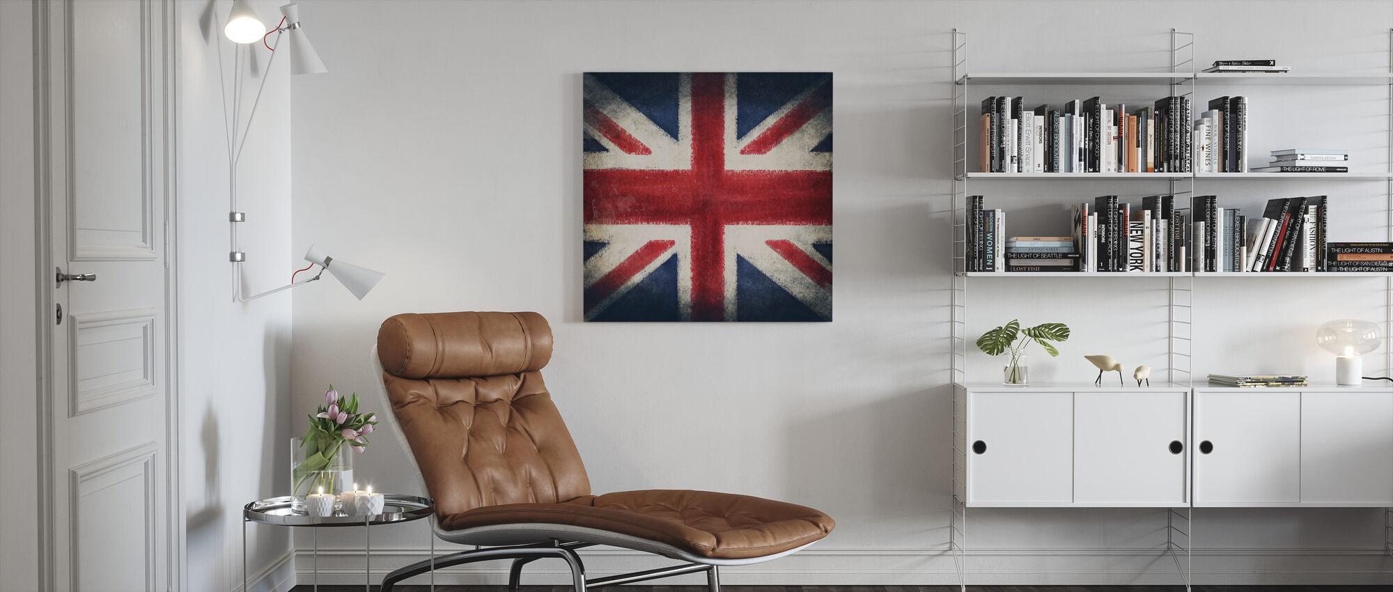 Retro Flag - Canvas print - Woonkamer