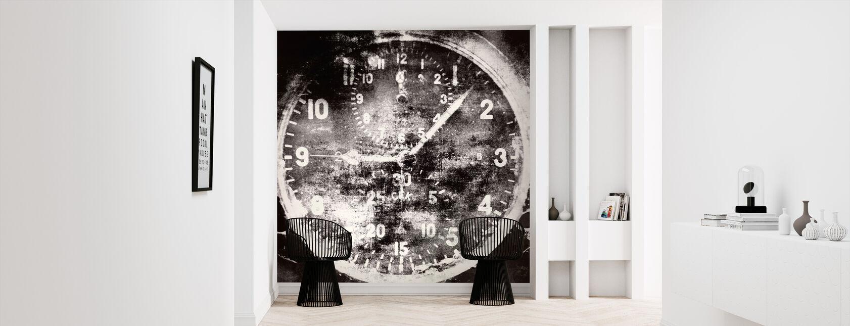 Vintage Airplane Clock - Wallpaper - Hallway