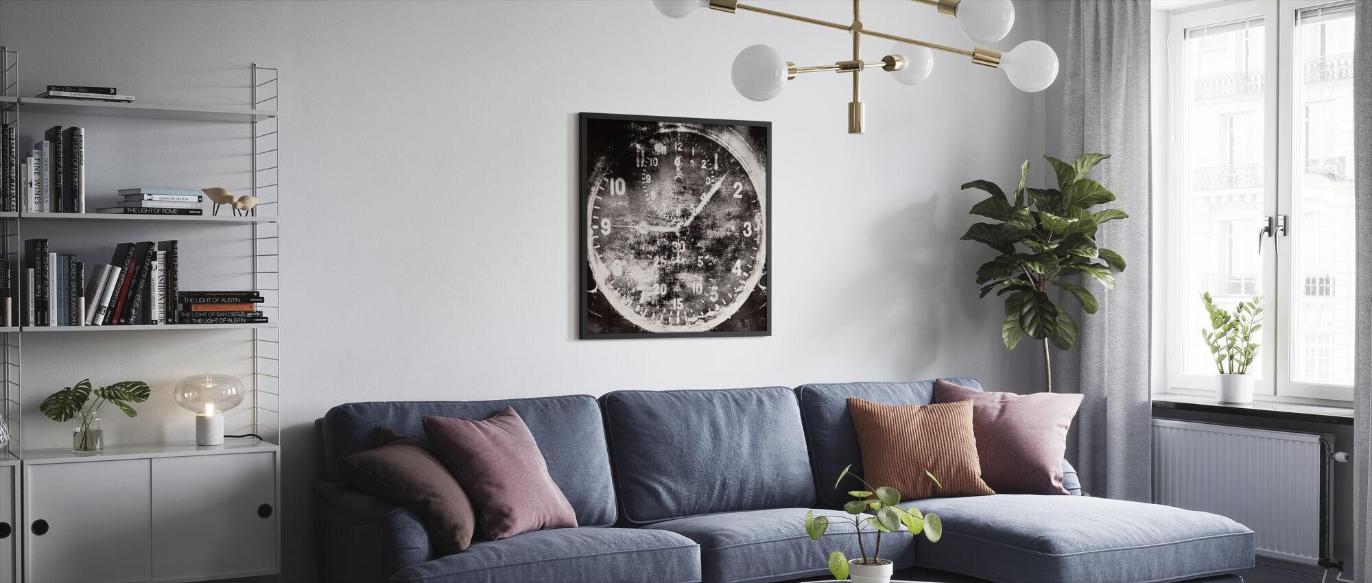 Vintage Airplane Clock - Framed print - Living Room