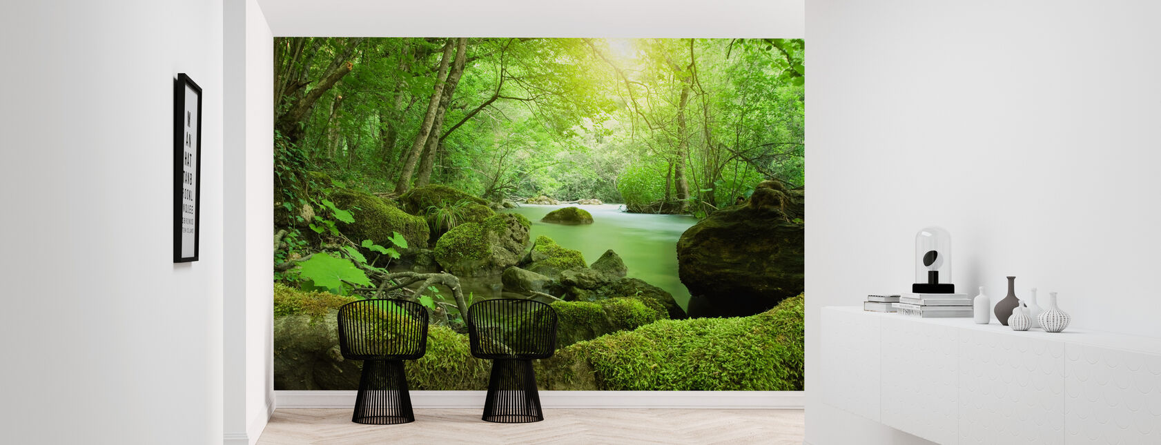 River in the Forest - Wallpaper - Hallway