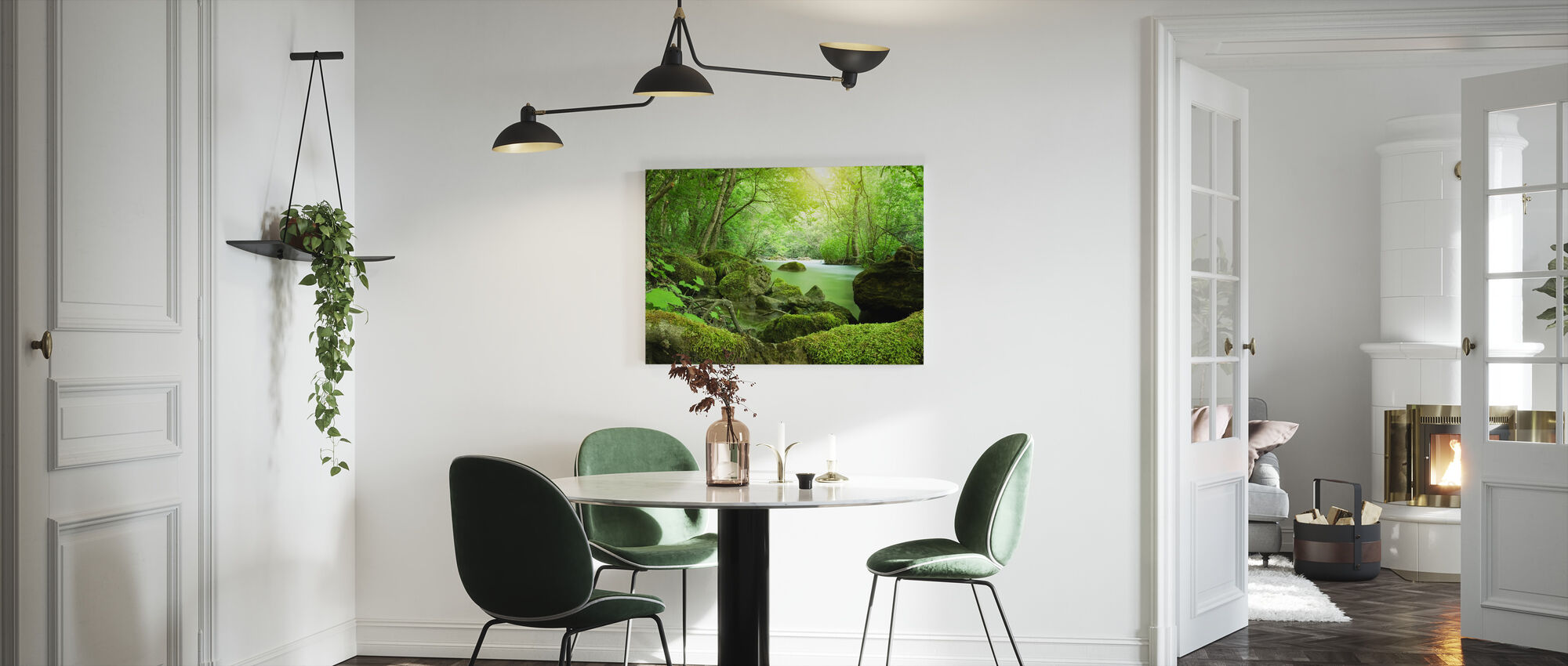 River in the Forest - Canvas print - Kitchen