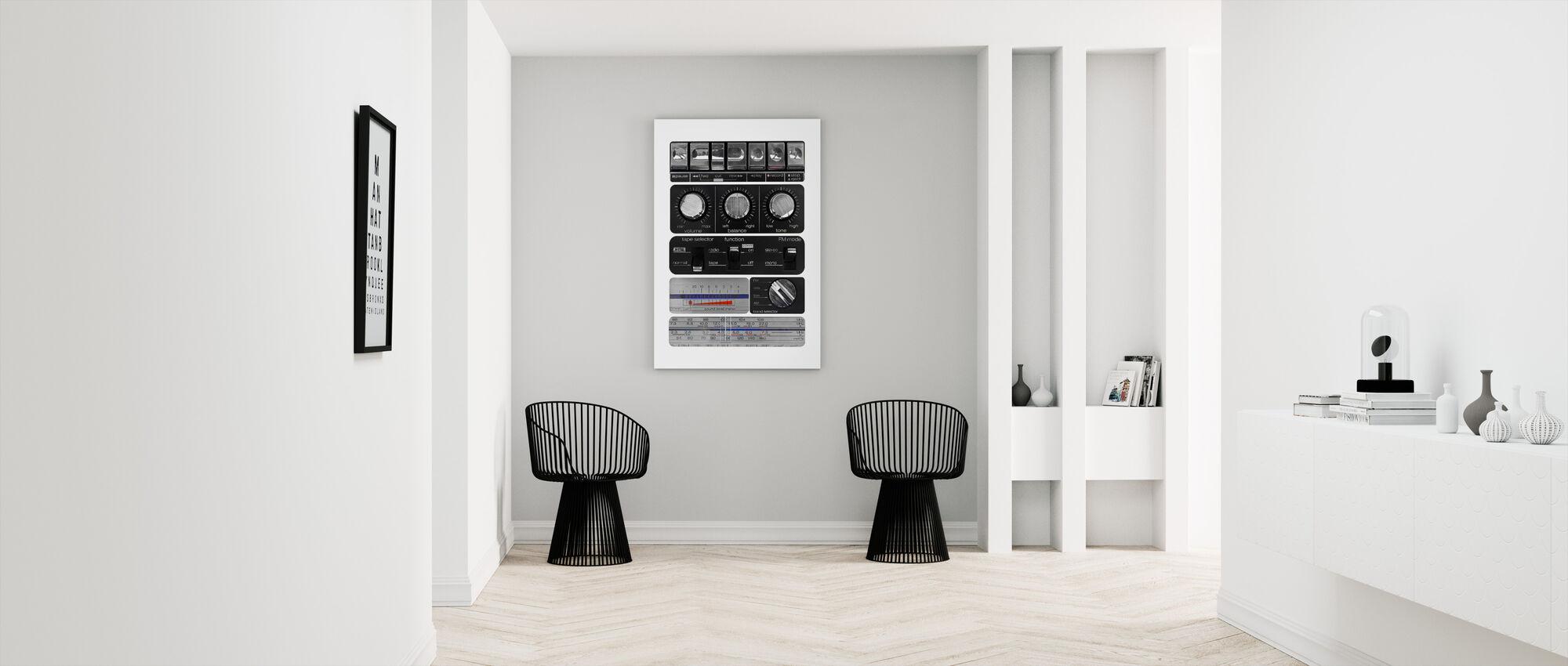 Vintage Amplifier - Canvas print - Hallway