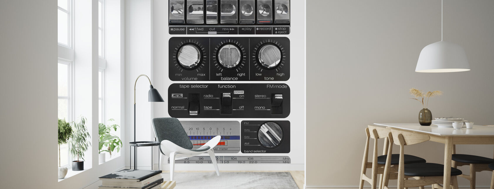 Vintage Amplifier - Wallpaper - Living Room