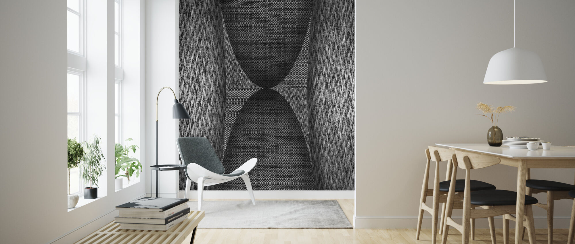 Clothed Wall - Wallpaper - Living Room