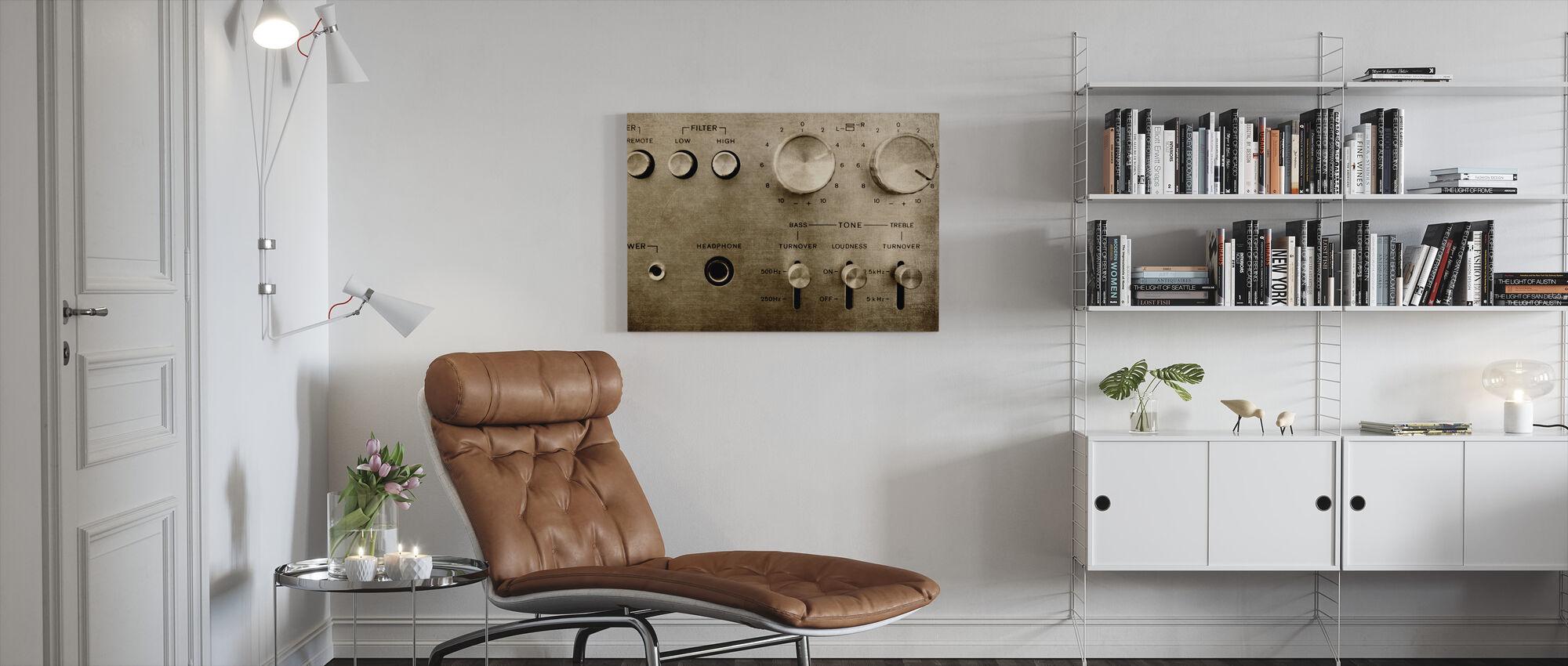 Retro Amplifier - Canvas print - Living Room