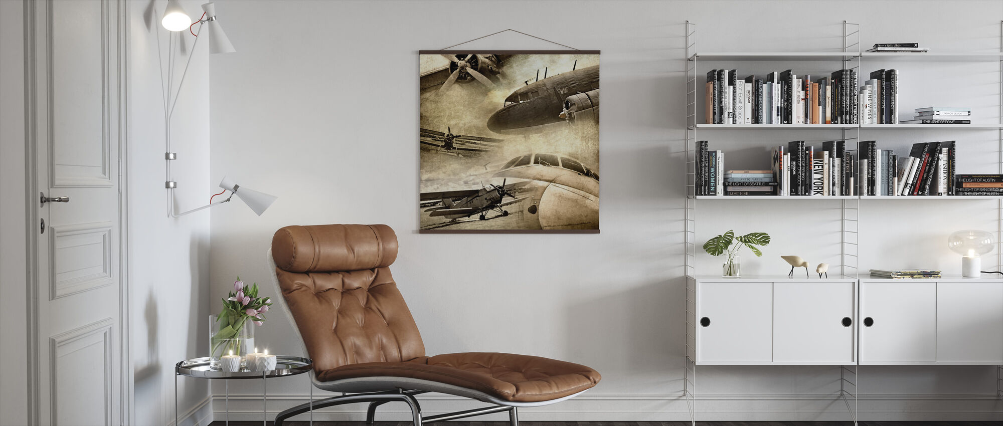 Retro Airplanes - Poster - Living Room