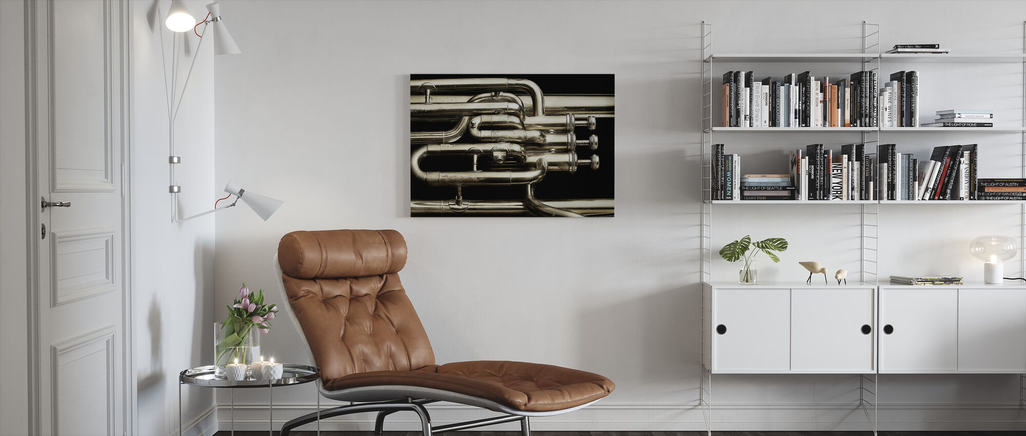 Brass Horn - Canvas print - Living Room