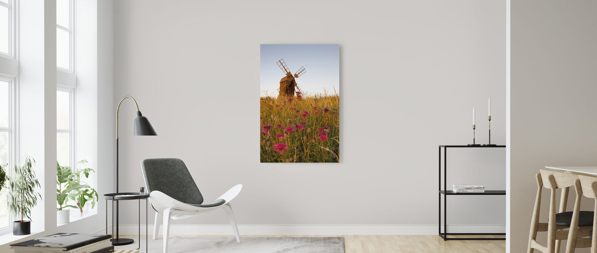 Grainy Windmill - Canvas print - Living Room