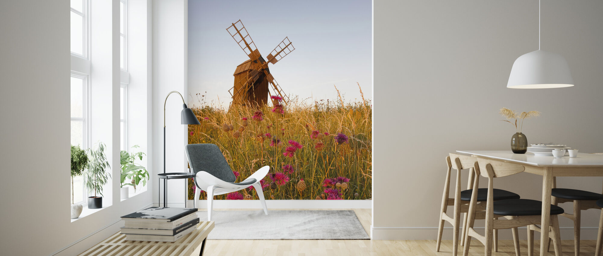 Grainy Windmill - Wallpaper - Living Room