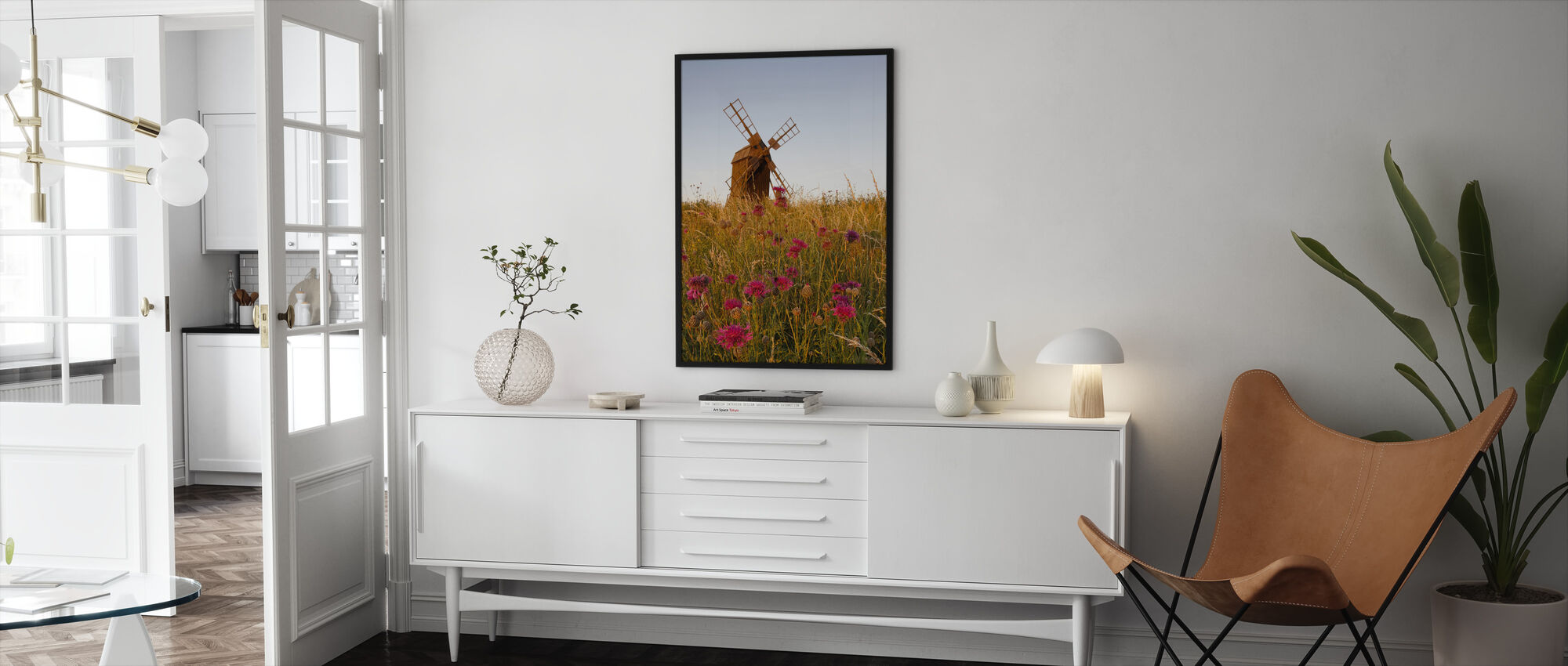 Rakeinen tuulimylly - Kehystetty kuva - Olohuone