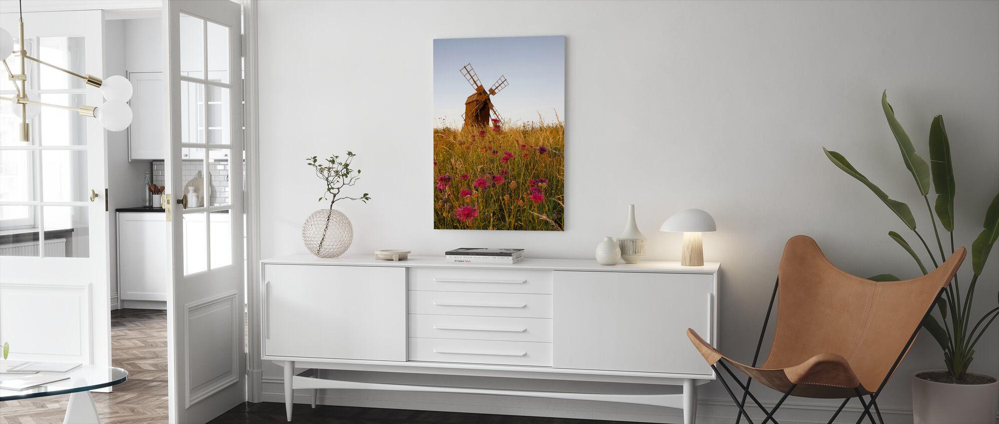 Grainy Windmill - Canvas print - Living Room