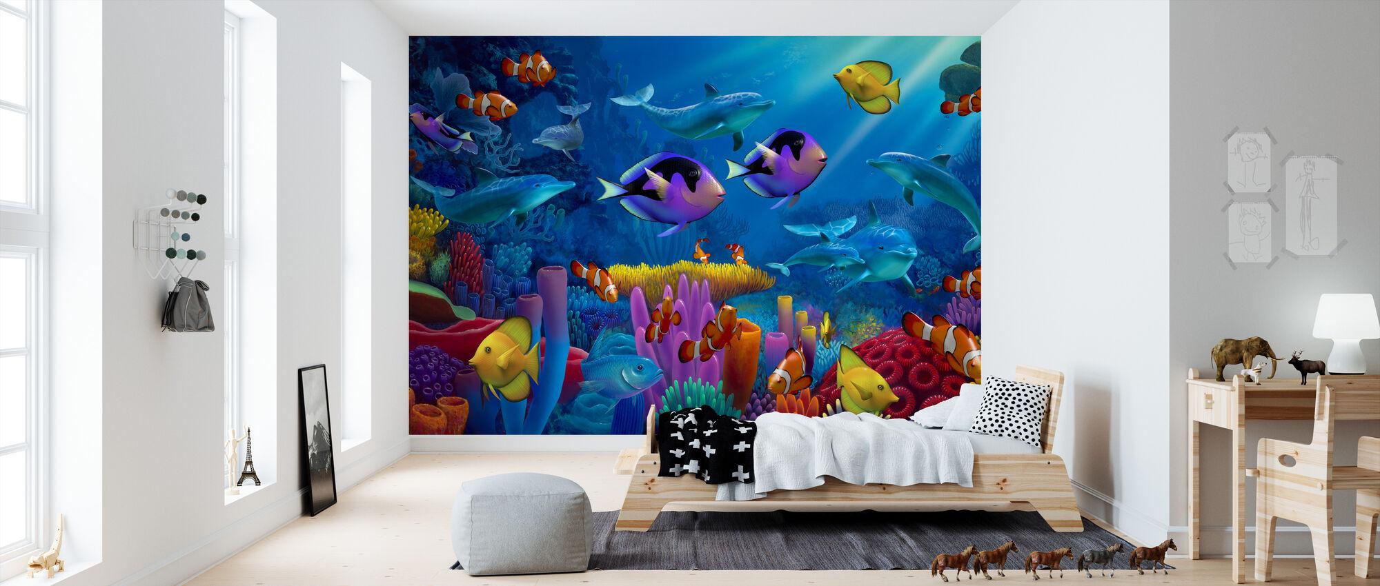 Värin valtameri - Tapetti - Lastenhuone