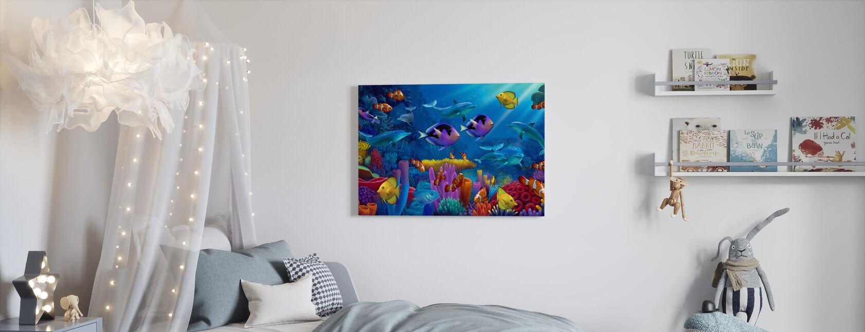 Ocean of Color - Canvas print - Kids Room