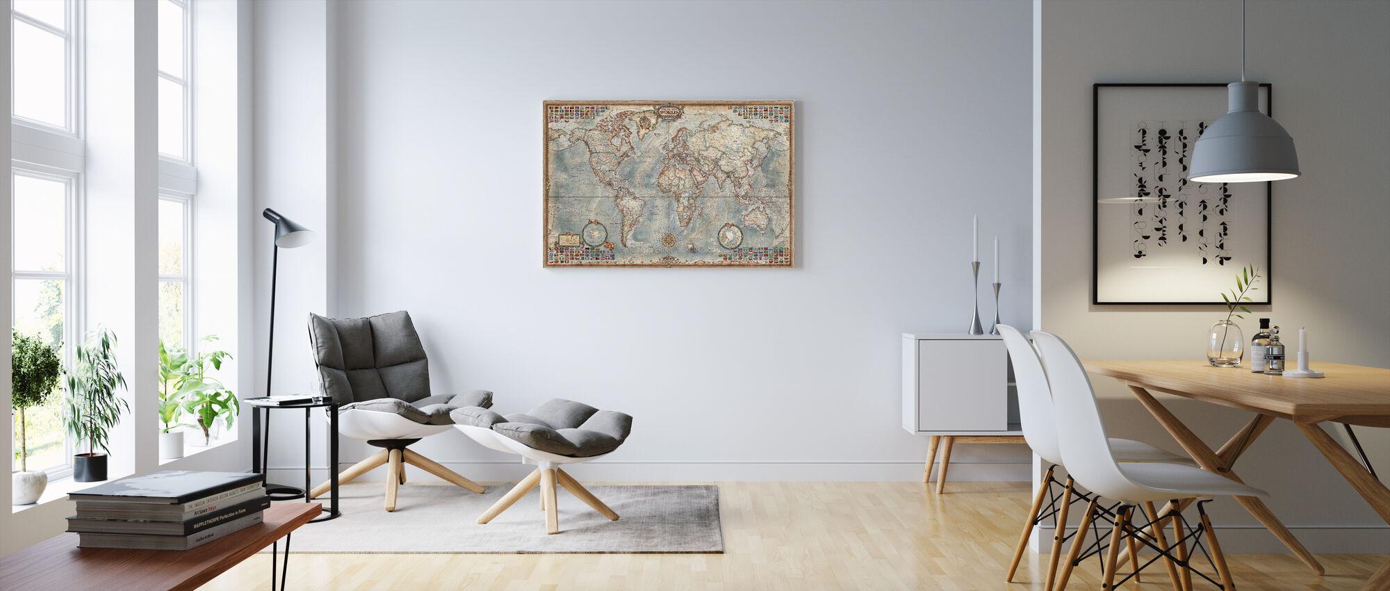 Executive Karta - Canvastavla - Vardagsrum