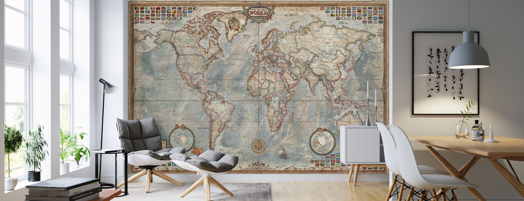 Executive Map - Wallpaper - Living Room
