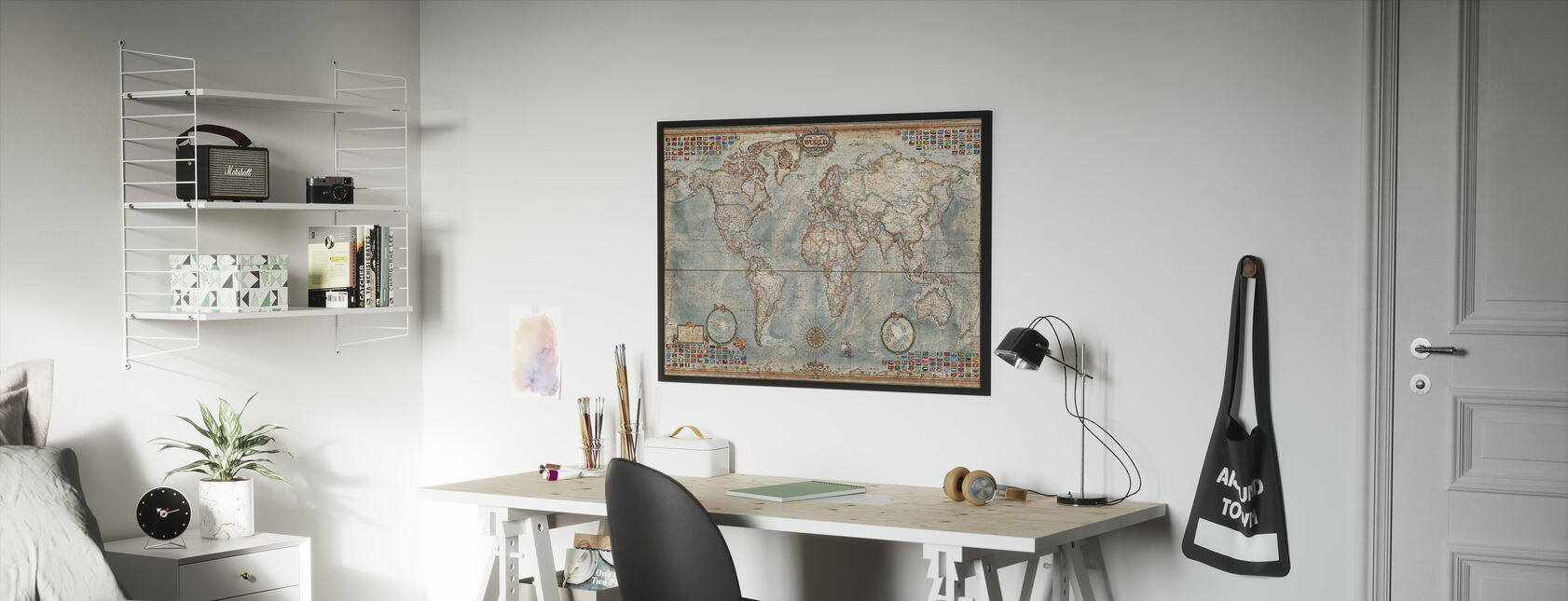 Executive Map - Framed print - Kids Room