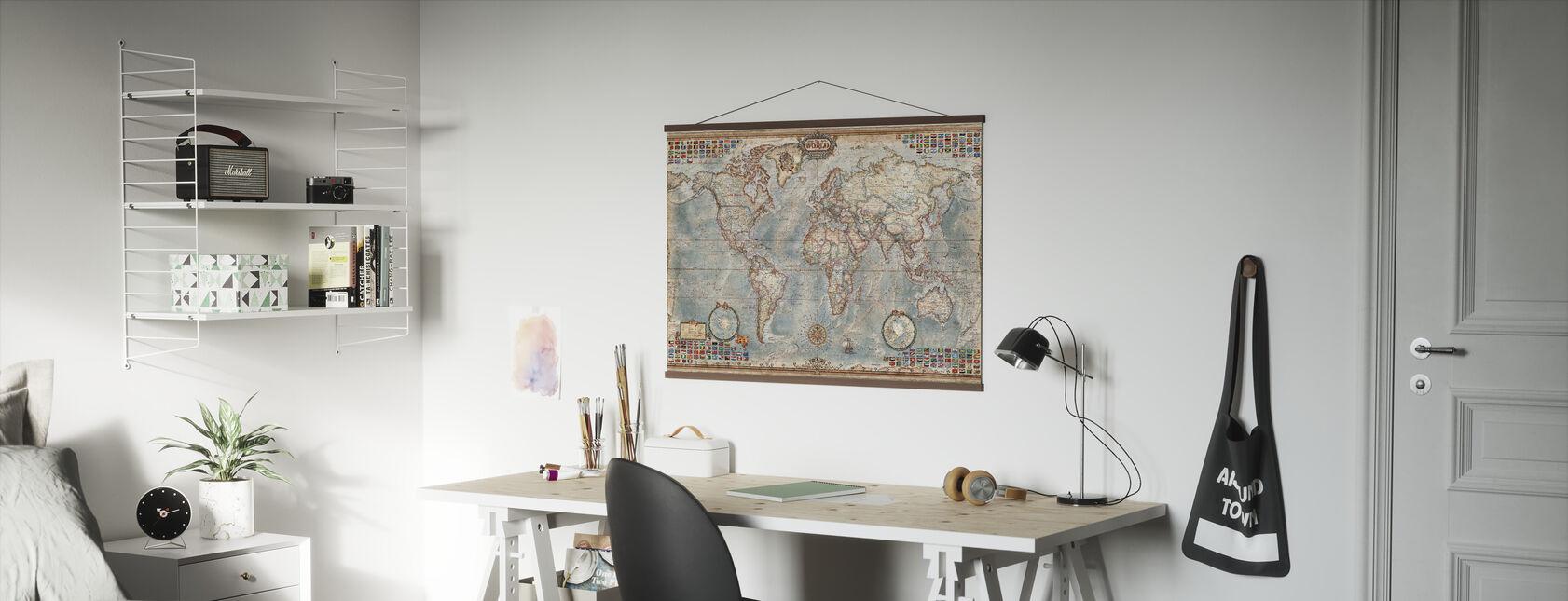 Executive Kartta - Juliste - Toimisto