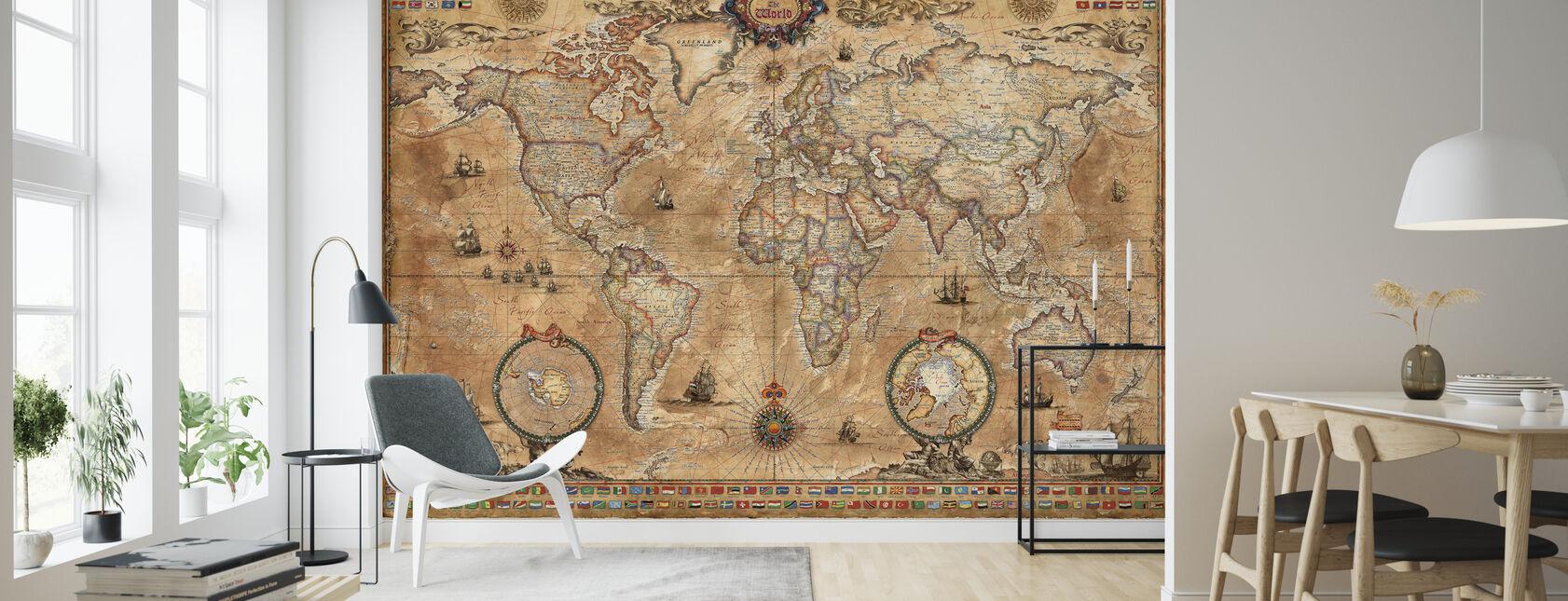 Pergament Map - Wallpaper - Living Room