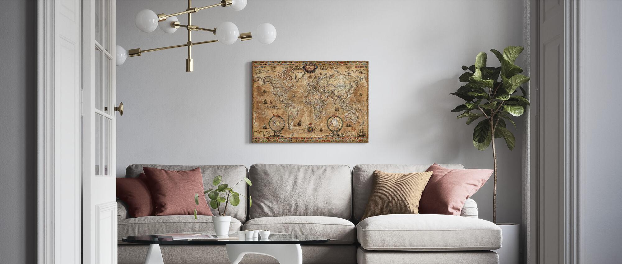 Pergament Map - Canvas print - Living Room
