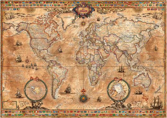 Uvanlig Verdenskart – trendy bilder på lerret – Photowall ZJ-46