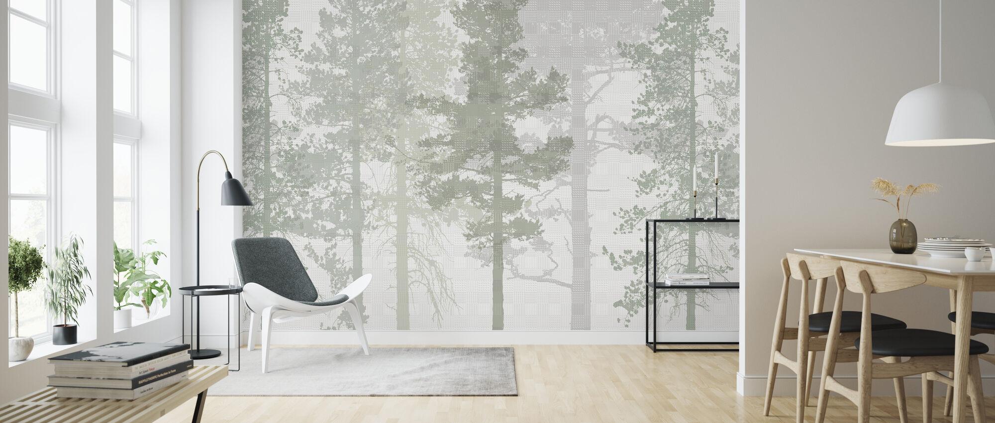 Weaving Wood Cool Green Wall Murals Online Photowall