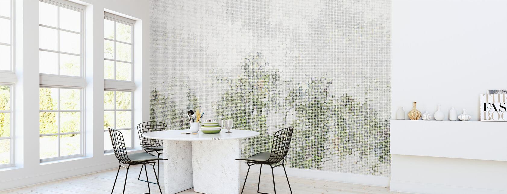 Mosaikk skog - grønn - Tapet - Kjøkken