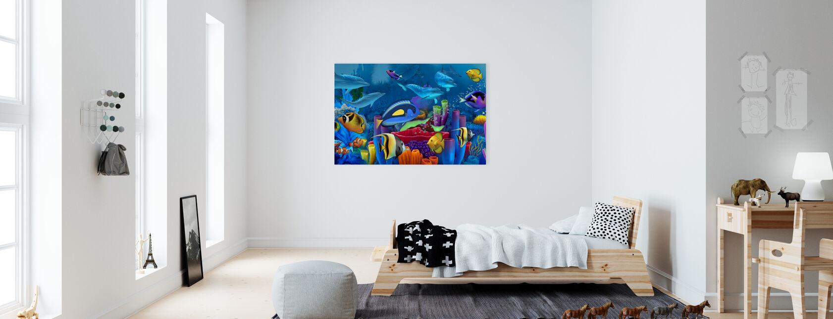 Neptunes puutarha - Canvastaulu - Lastenhuone