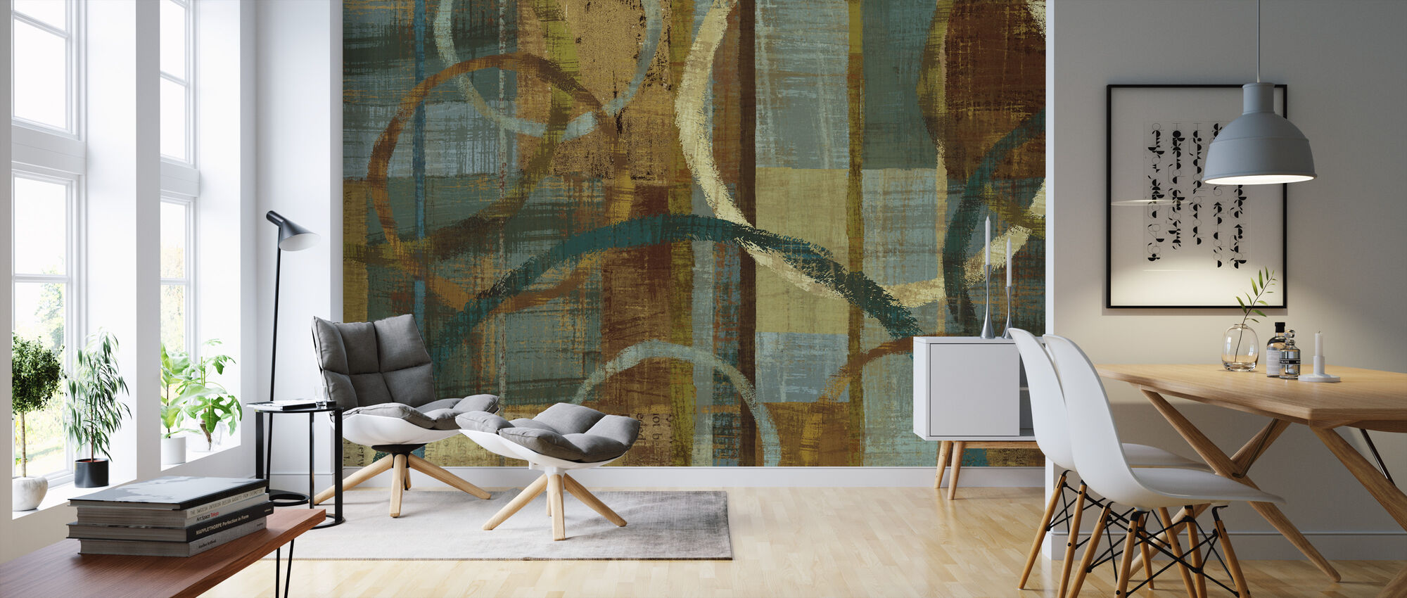 Tranquility Pattern - Wallpaper - Living Room