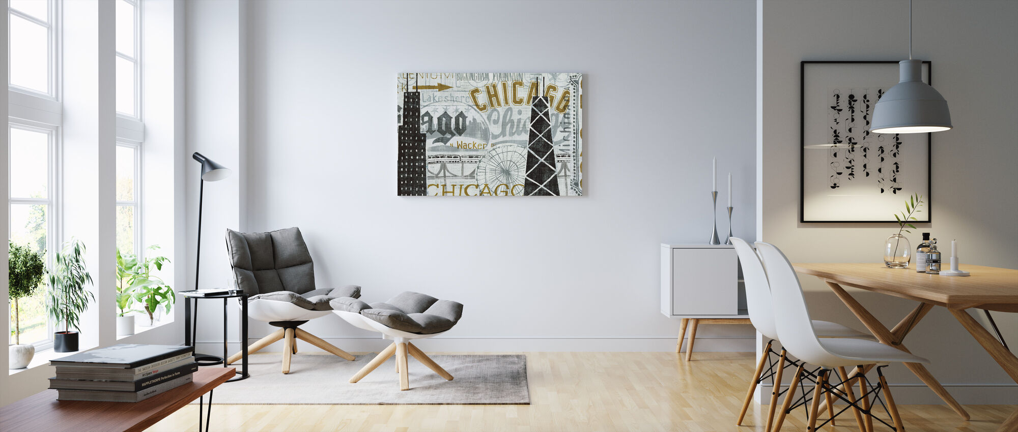 Hey Chicago Vintage - Canvas print - Living Room