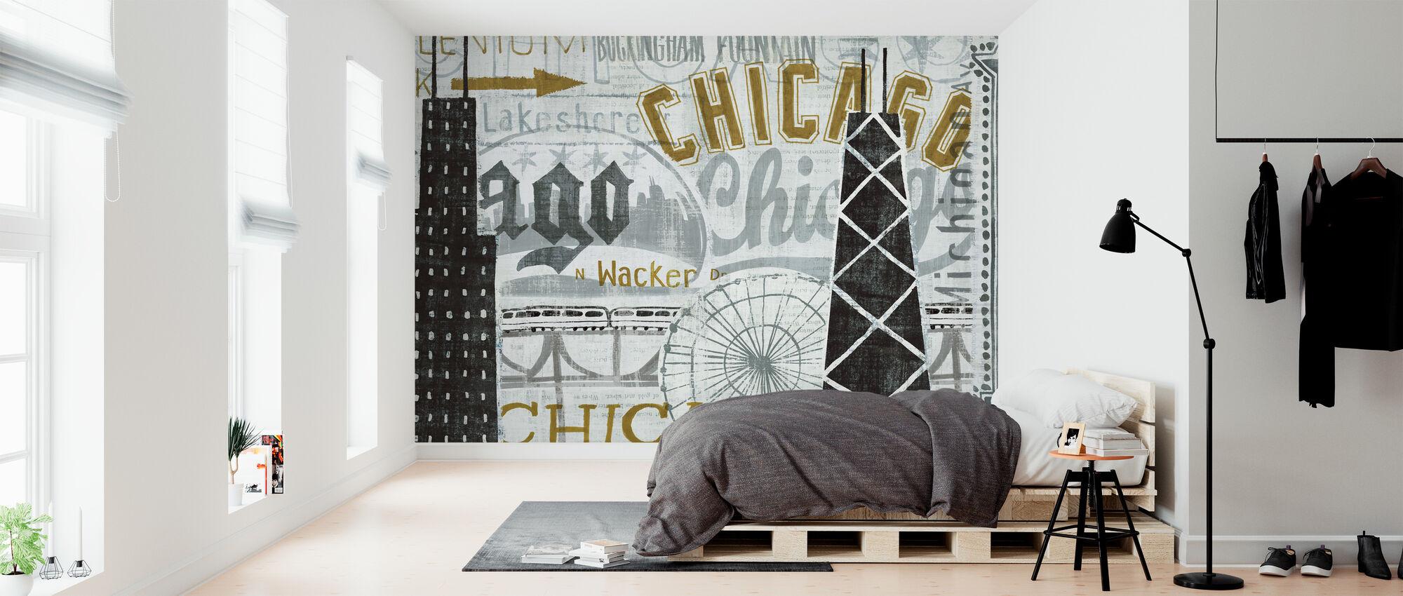 Hé Chicago Vintage - Behang - Slaapkamer