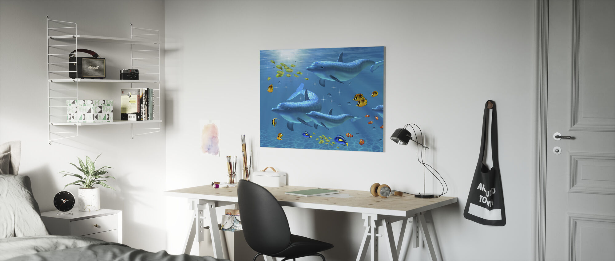 Värin sateenkaari - Canvastaulu - Lastenhuone