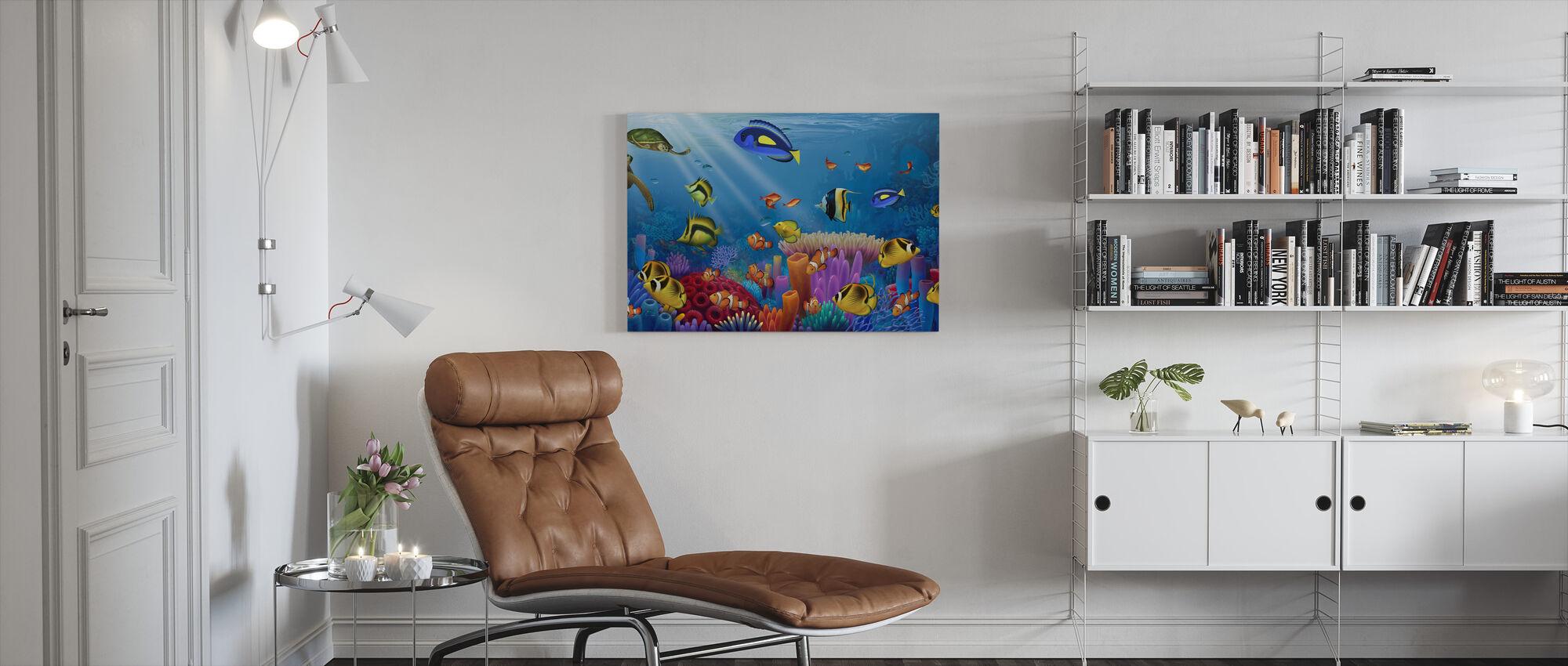 Sea of Life - Canvas print - Living Room