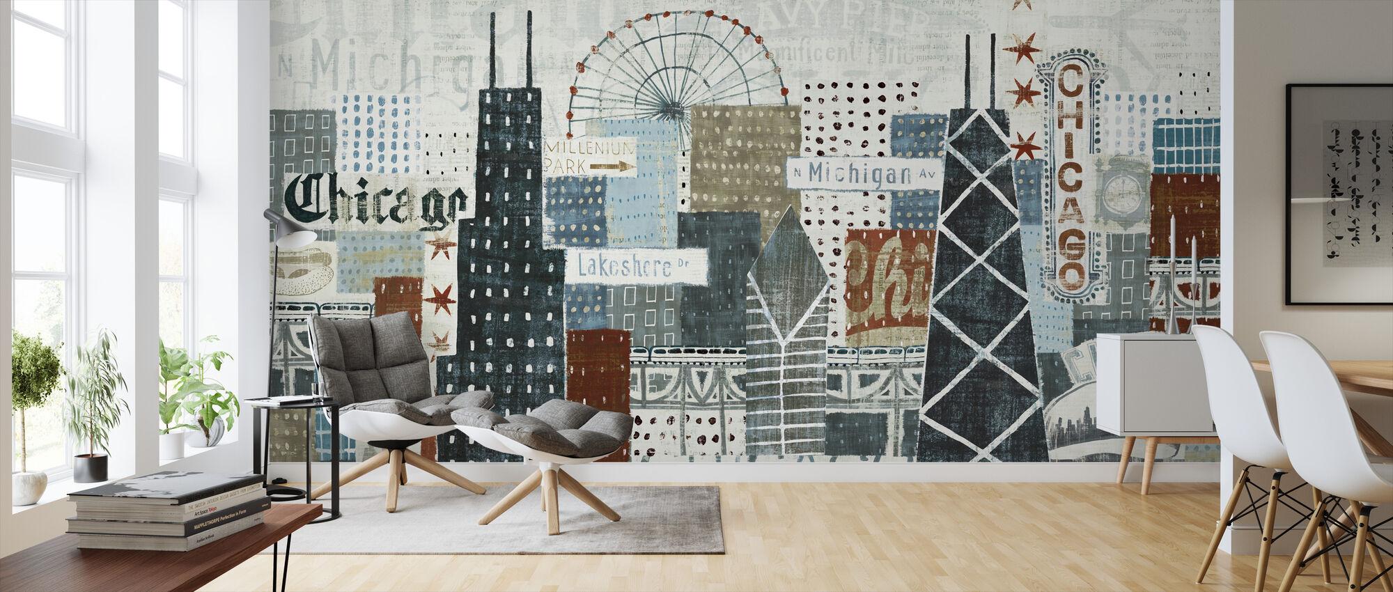 Hey Chicago - Wallpaper - Living Room