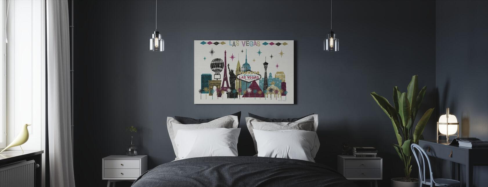 Las Vegas Skyline - Canvas print - Slaapkamer