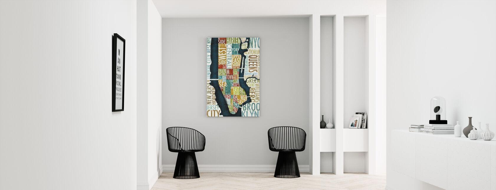 Manhattan Carte - Impression sur toile - Entrée