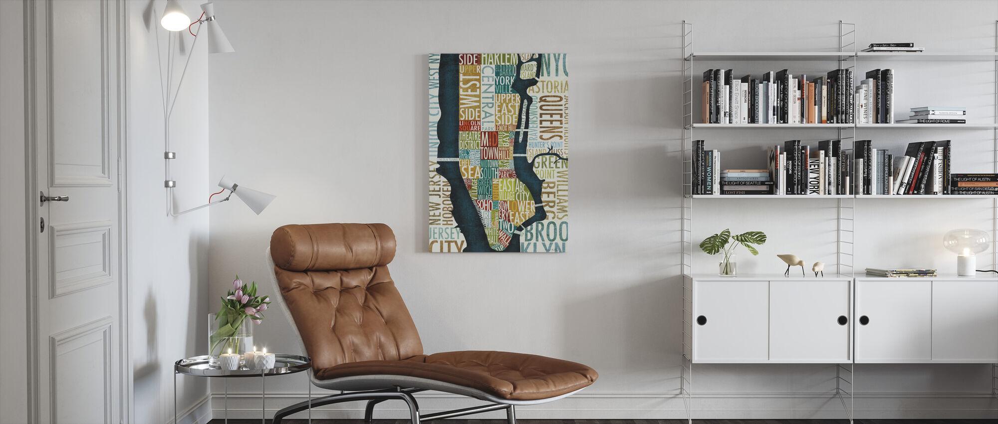 Manhattan Map - Canvas print - Living Room