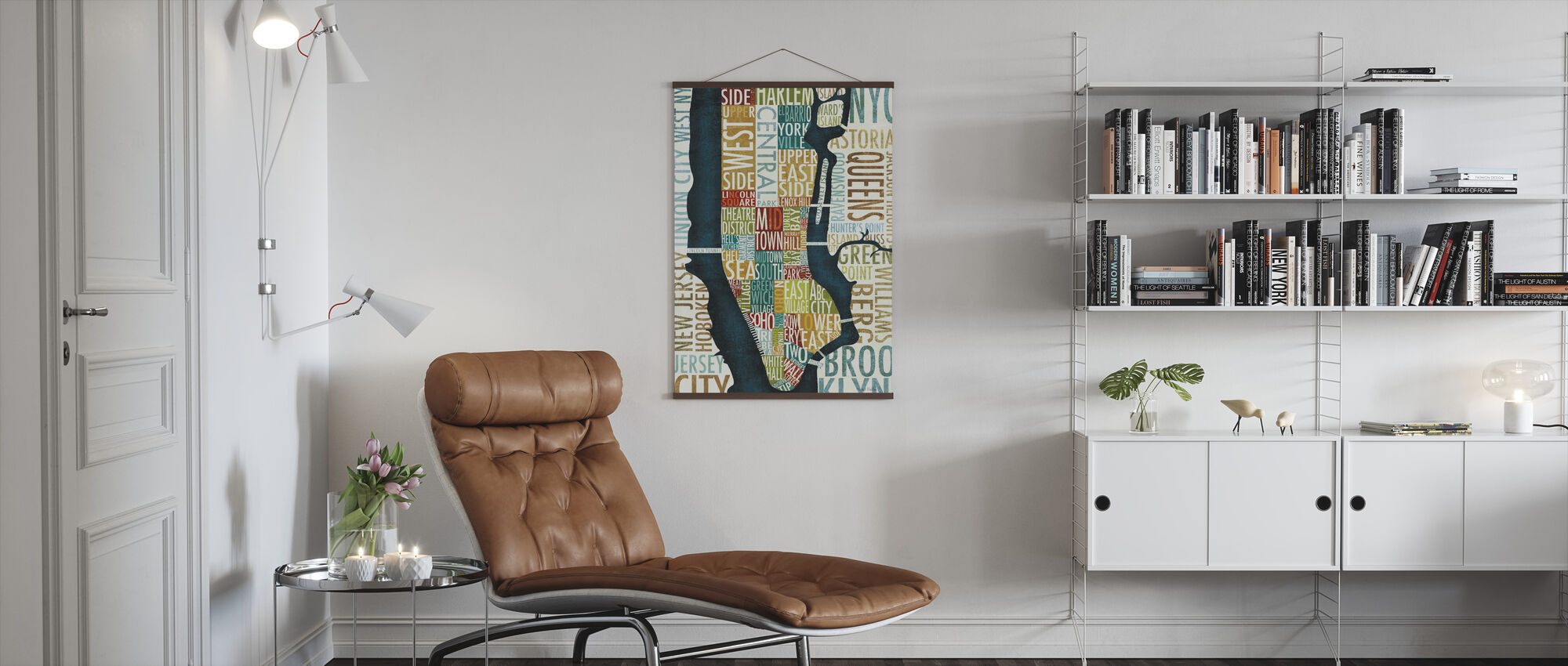 Manhattan Map - Poster - Living Room