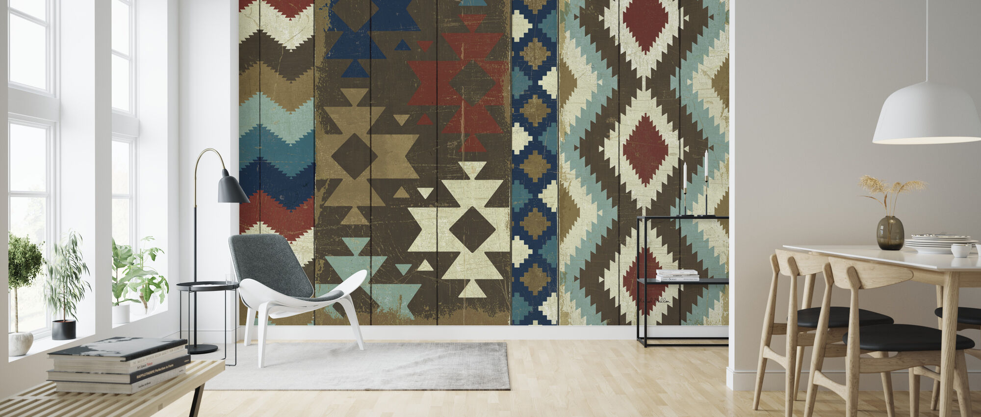 Native Tapestry - Wallpaper - Living Room