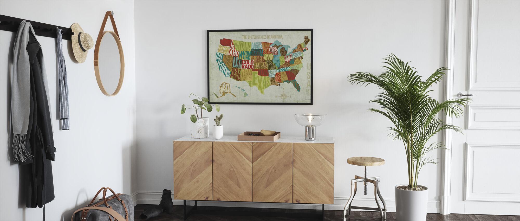 USA Modern - Framed print - Hallway