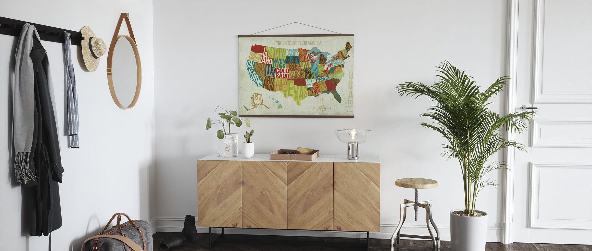 USA Modern - Poster - Hallway