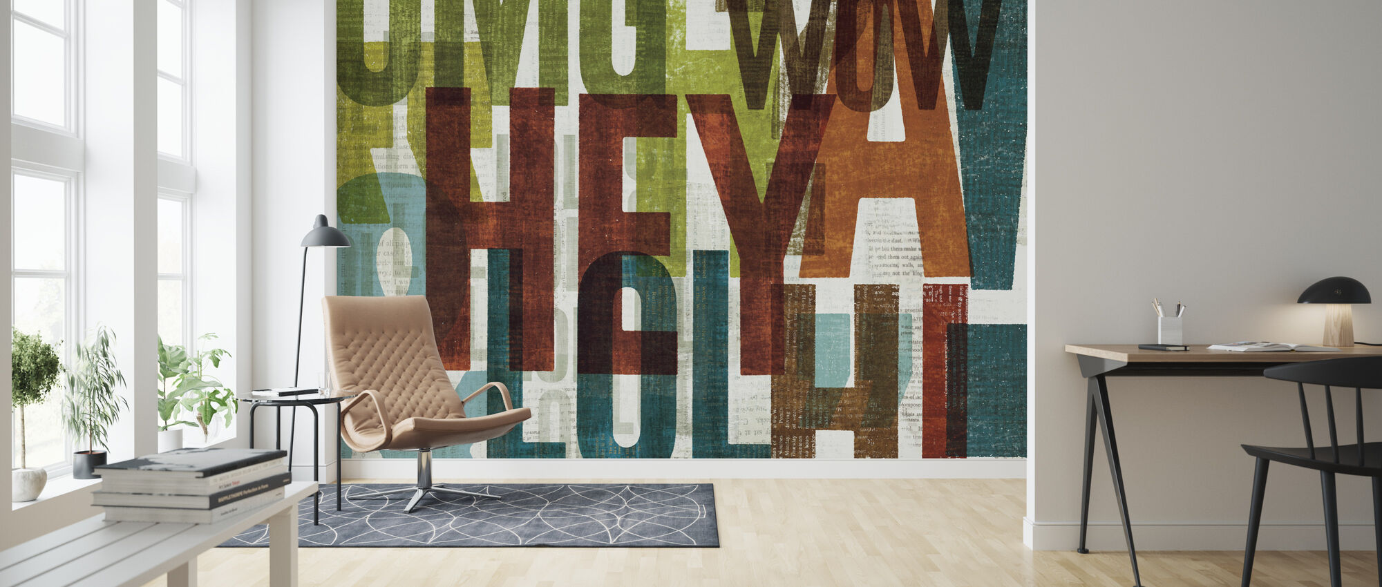 Punctuated Conversation I - Wallpaper - Living Room