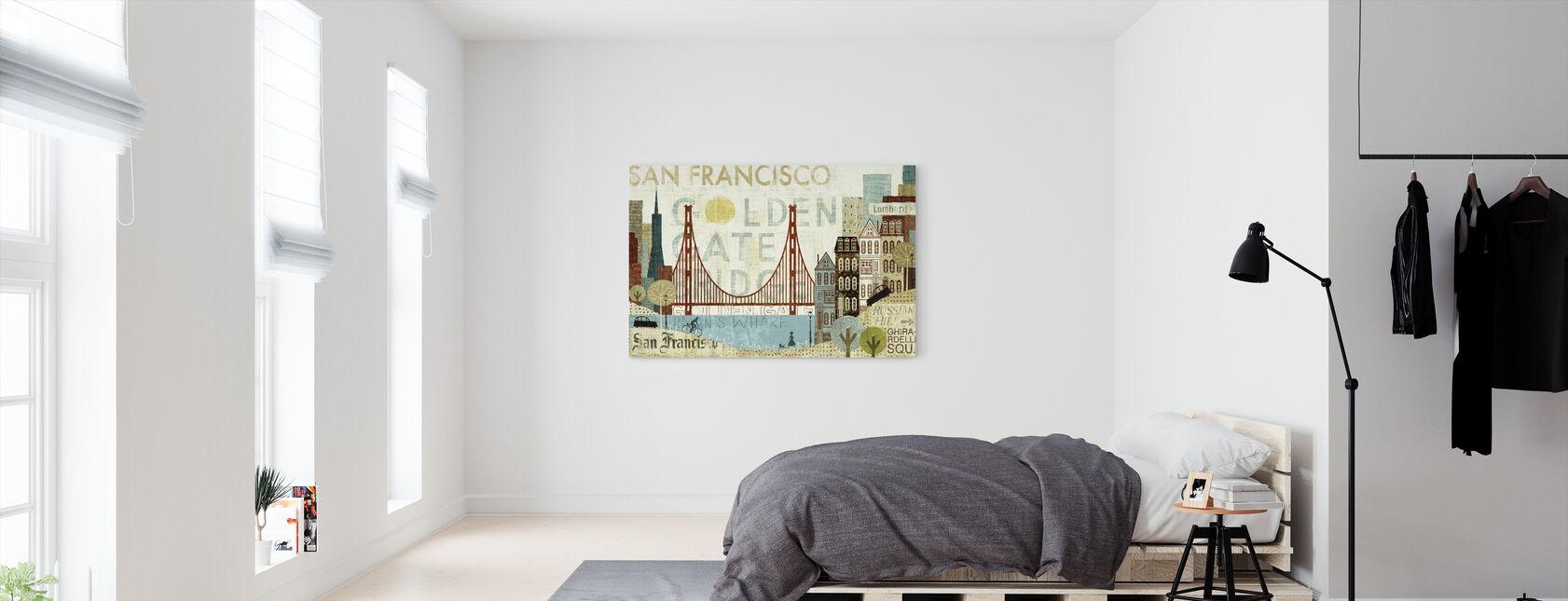 Hey San Francisco - Canvas print - Bedroom