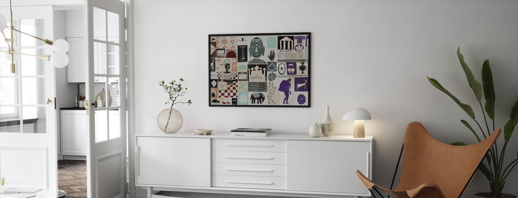 World Travels - Framed print - Living Room