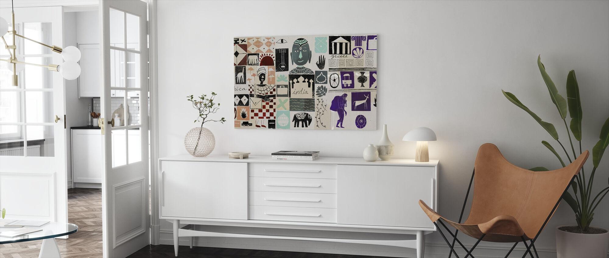 World Travels - Canvas print - Living Room