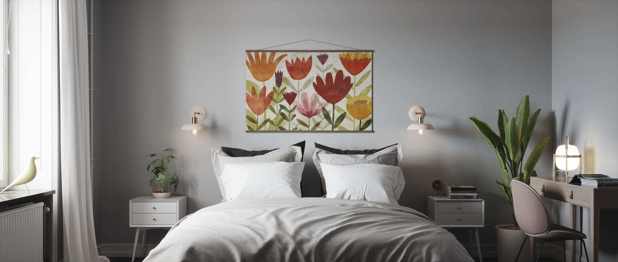 Moderne tuin - Poster - Slaapkamer
