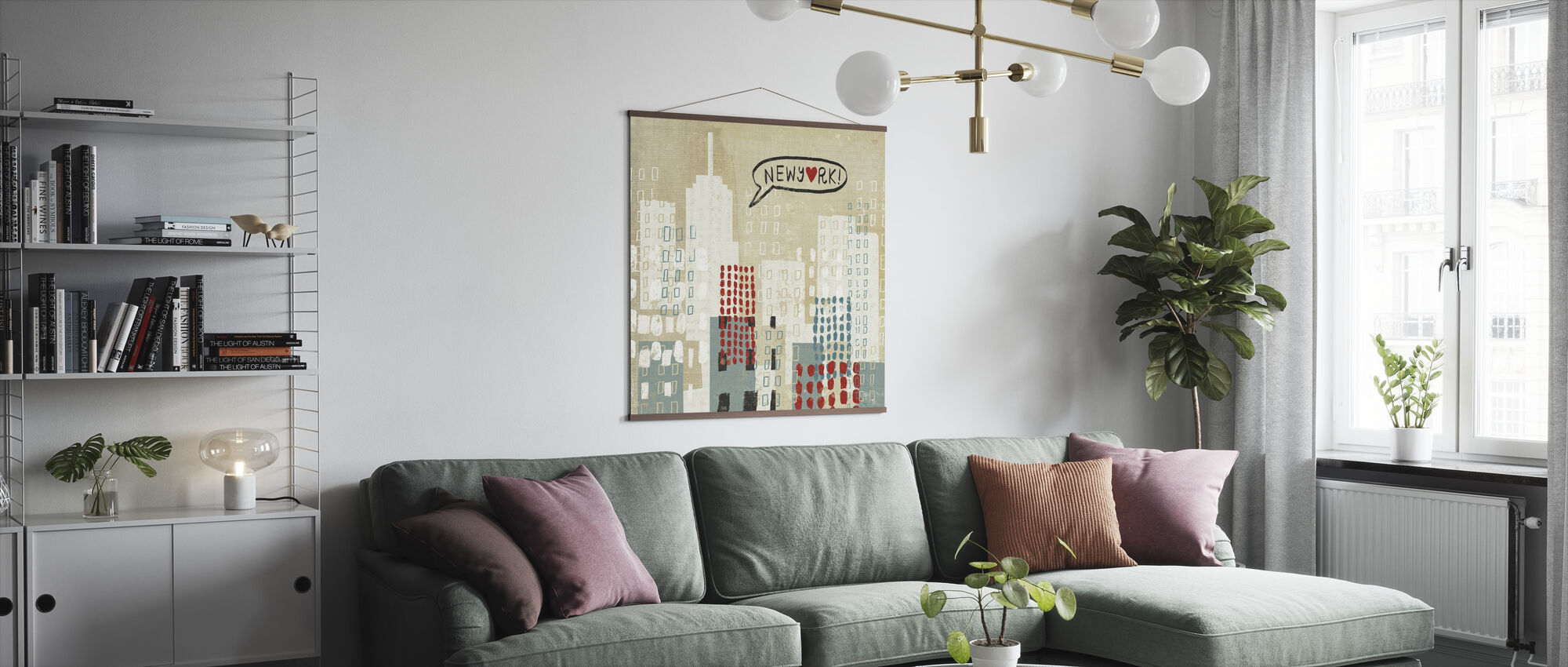 NYC Collage - Poster - Living Room