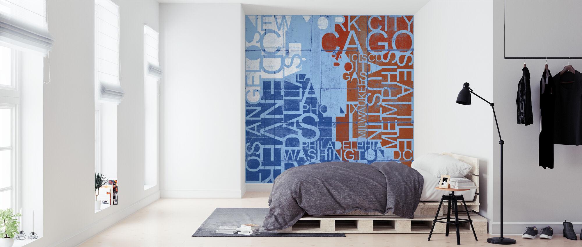 Verenigde Staten Steden - Behang - Slaapkamer