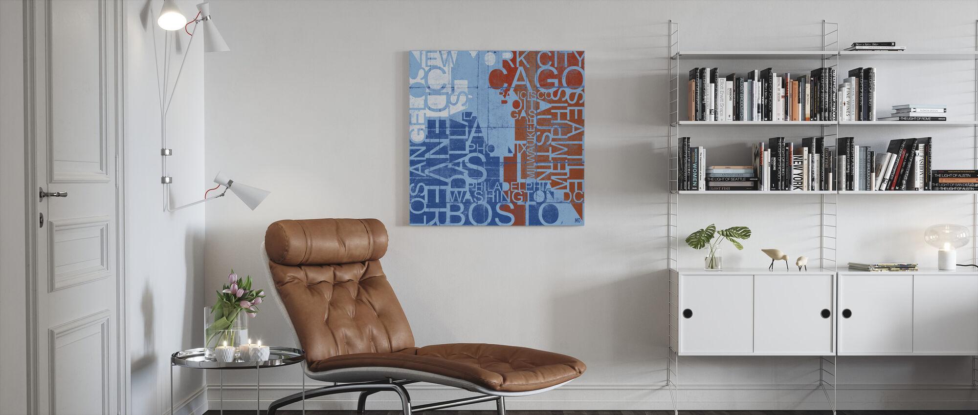 USA Cities - Canvas print - Living Room