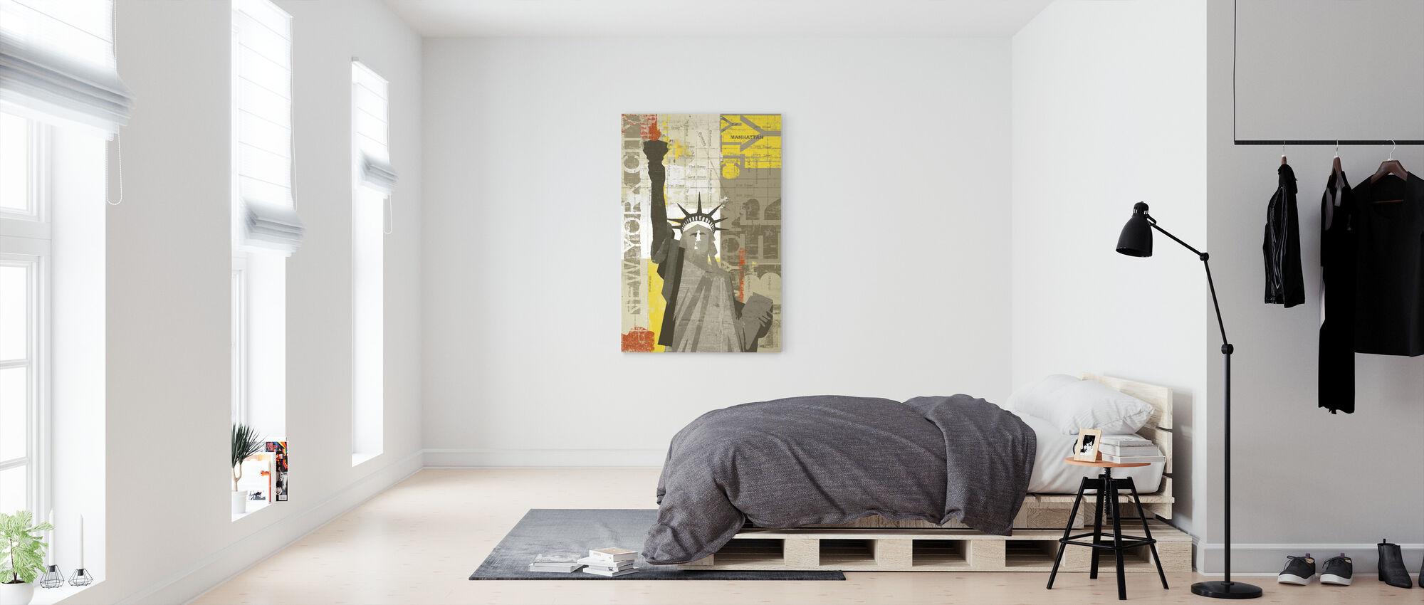 Frihed - Billede på lærred - Soveværelse